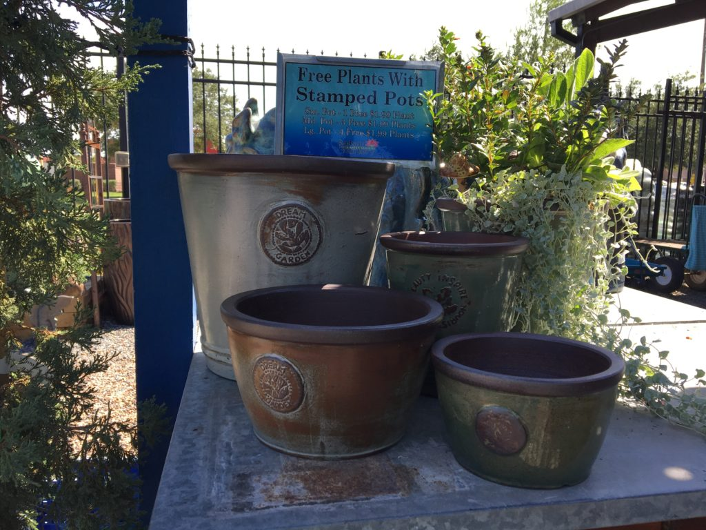 Adorable Stamped Pots